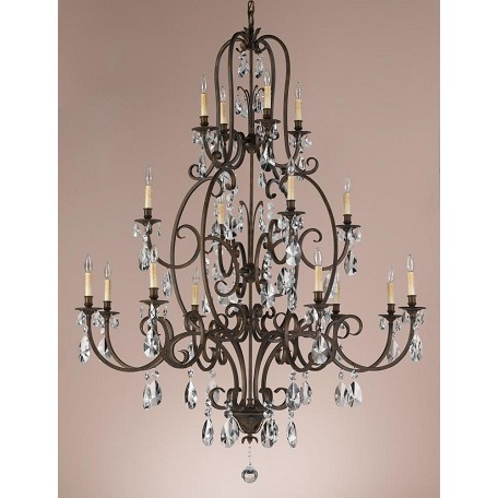 Feiss Sixteen Light Aged Tortoise Shell Up Chandelier