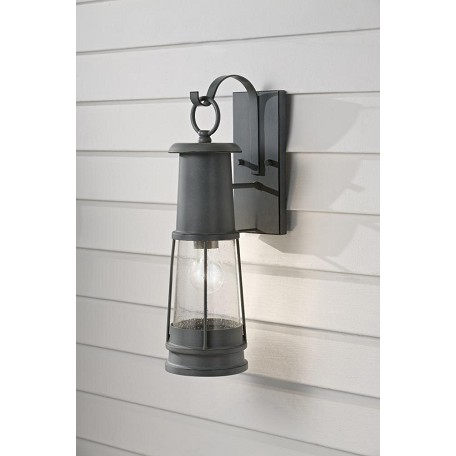 Storm Lantern Wall Lights : Feiss One Light Storm Cloud Clear Seeded Glass Wall Lantern Storm Cloud OL8101STC From Chelsea ...