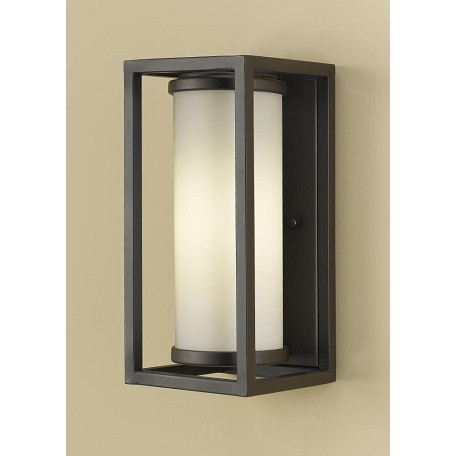 Etched Glass Wall Lights : Feiss One Light Oil Rubbed Bronze White Opal Etched Glass Wall Light Oil Rubbed Bronze ...