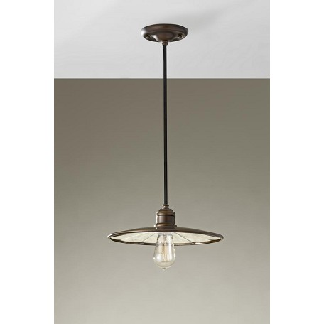 Feiss One Light Astral Bronze Down Mini Pendant