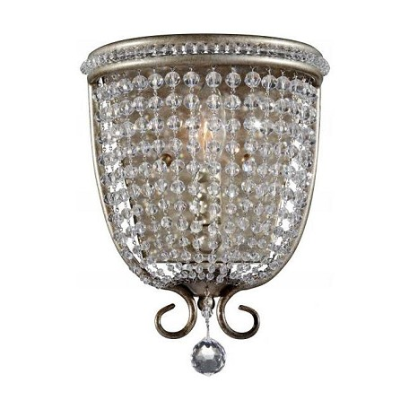 Feiss One Light Burnished Silver Wall Light