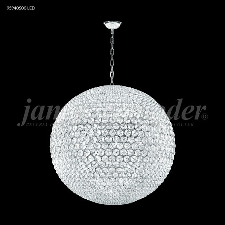 James R Moder 32 Light Pendant With Silver Finish