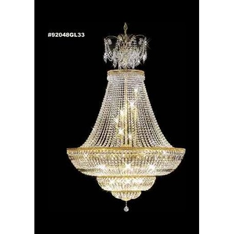 James R Moder Empire Crystal Chandelier With Gold Lustre Finish