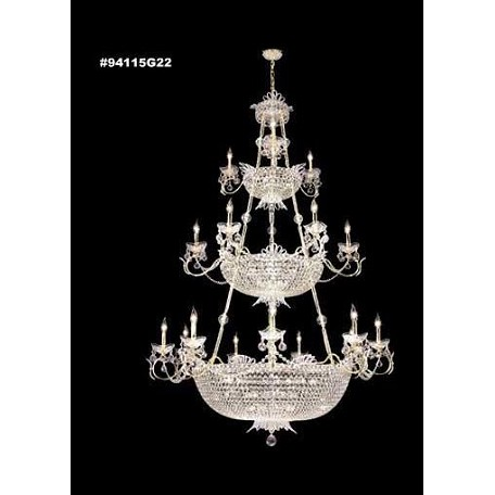 James R Moder Princess Chandelier With Royal Gold Accents