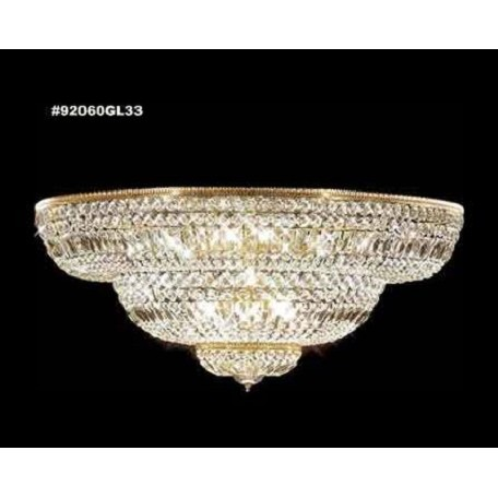 James R Moder Empire Crystal Flush Mount With Gold Lustre Finish