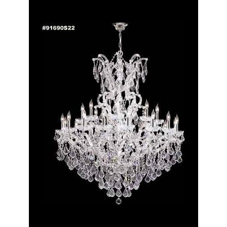 James R Moder 25 Light Maria Theresa Grand Chandelier With Silver Finish