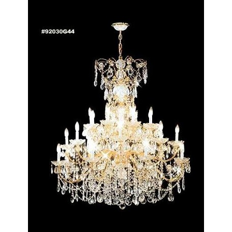James R Moder 40 Light Chandelier With Royal Gold Finish
