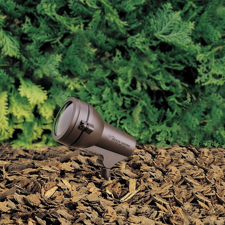 Kichler Landscape One Light Textured Architectural Bronze Spot Light