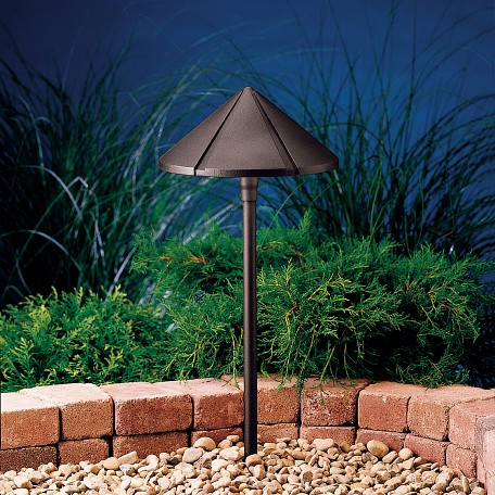 Kichler Landscape One Light Textured Architectural Bronze Path Light