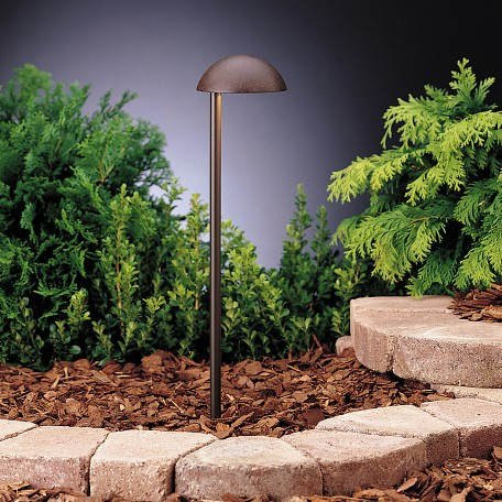 Kichler Landscape One Light Textured Tannery Bronze Path Light
