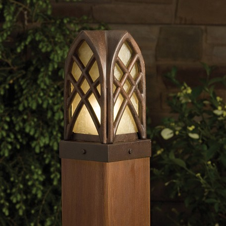 Kichler Landscape Cathedral Post Low Voltage Deck And Patio Light