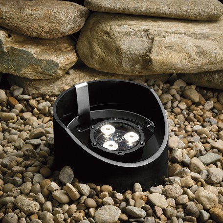 Kichler Landscape Three Light Textured Black Well Light