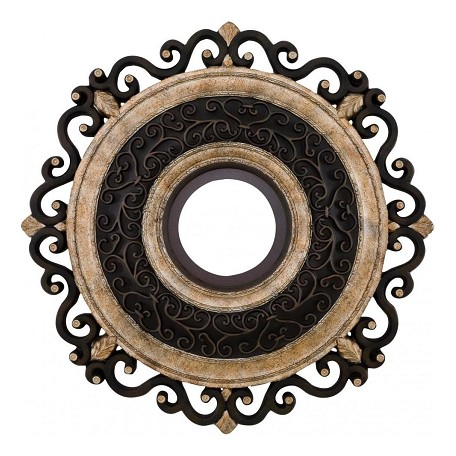 Minka-Aire Sterling Walnut 22In. Ceiling Medallion From The Napoli Collection