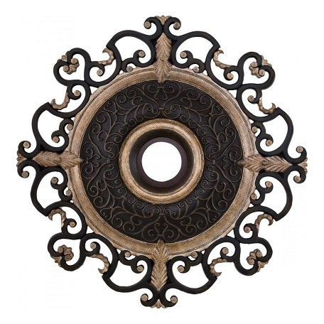 Minka-Aire Sterling Walnut 38In. Diamenter Ceiling Medallion From The Napoli Collection