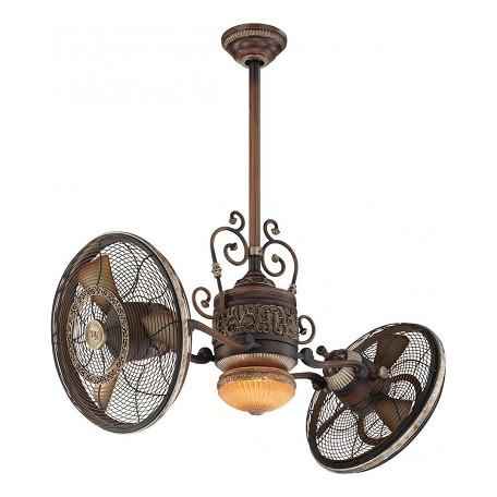 Minka aire one light belcaro walnut dual motor ceiling fan for Dual motor ceiling fan
