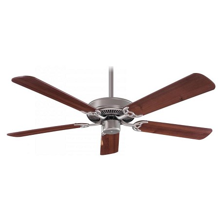 Minka-Aire Brushed Steel Contractor 52In. 5 Blade Indoor Ceiling Fan With Blades Included