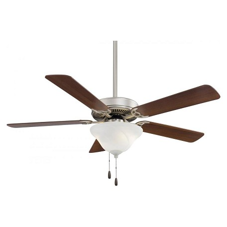 Minka-Aire Three Light Brushed Steel And Silver Ceiling Fan