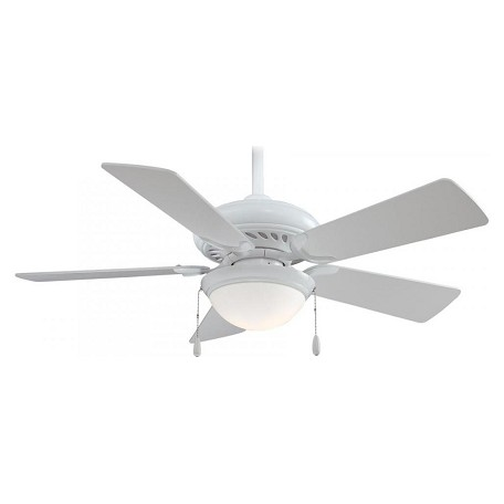 Minka-Aire White 5 Blade Ceiling Fan Light And Blades Included