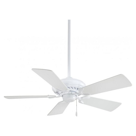 Minka-Aire White 5 Blade 44In. Ceiling Fan Blades Included