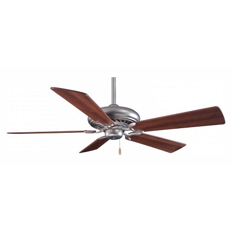 Minka-Aire Brushed Steel Brushed Steel 5 Blade 52In. Ceiling Fan Blades Included
