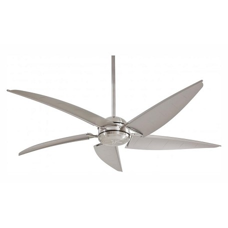 Minka-Aire One Light Brushed Nickel Wet Outdoor Fan