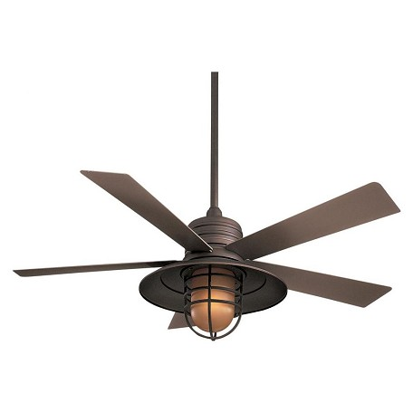 Minka-Aire One Light Oil Rubbed Bronze Outdoor Fan