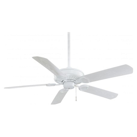 Minka-Aire White 5 Blade Indoor Outdoor Energy Star Ceiling Fan Blades Included