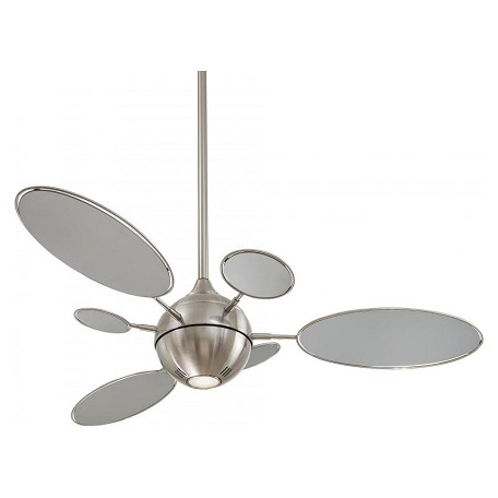 Minka-Aire Brushed Nickel 6 Blade 54In Ceiling Fan Light And Wall Control Included
