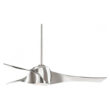 Minka-Aire One Light Liquid Nickel Ceiling Fan