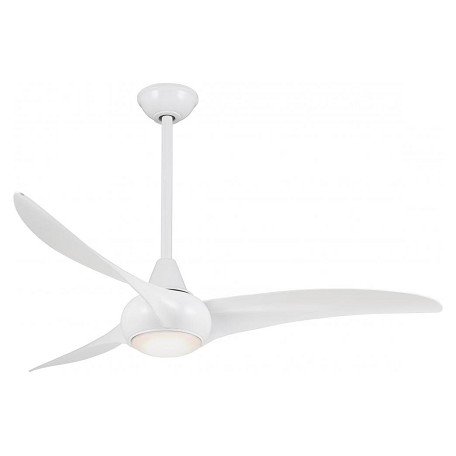 Minka Aire White 52in 3 Blade Indoor Ceiling Fan With