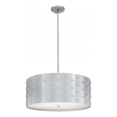 Minka George Kovacs Chrome 4 Light Drum Pendant from the Bling Bling Collection