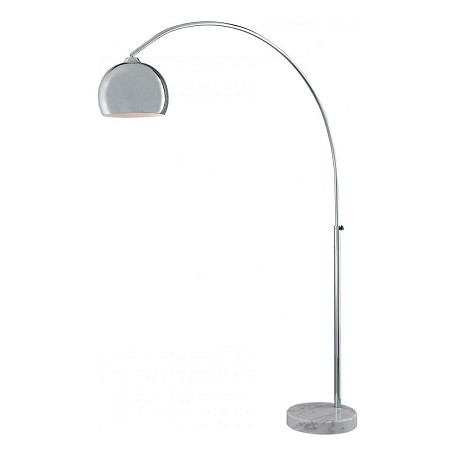 Minka George Kovacs Chrome 1 Light Arc Floor Lamp from the Georgeft.s Reading Room Collection
