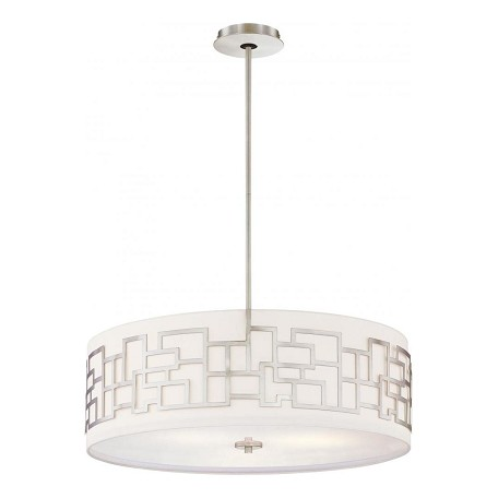Minka George Kovacs Brushed Nickel 4 Light Drum Pendant from the Aleciaft.s Necklace Collection