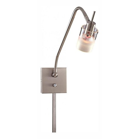 Minka George Kovacs Brushed Nickel 1 Light Gooseneck Wall Sconce from the Pierce Collection