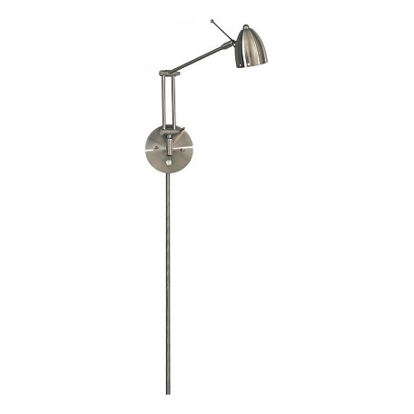 Minka George Kovacs 1 Light Brushed Nickel Shade Metal Wall Light