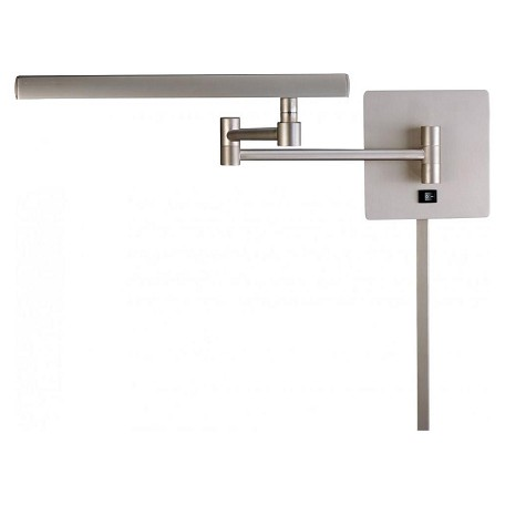 Minka George Kovacs Matte Brushed Nickel 1 Light Plug In Wall Sconce From The Madake Collection