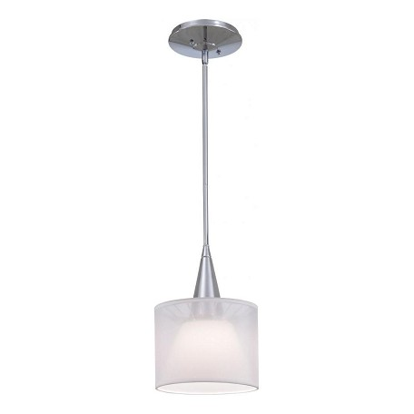 Minka George Kovacs Chrome 1 Light Drum Pendant from the Bridge Collection