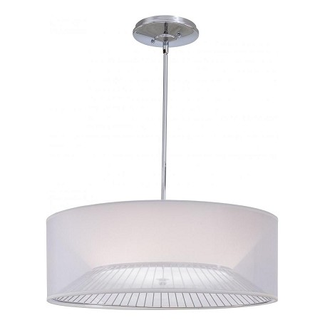 Minka George Kovacs Chrome 3 Light Drum Pendant from the Bridge Collection