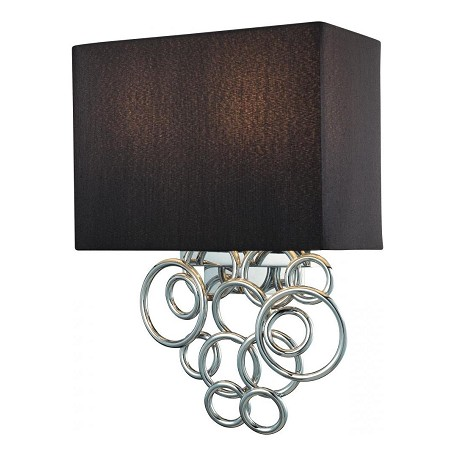 Minka George Kovacs Chrome 2 Light Wall Sconce in Chrome from the Ringlets Collection