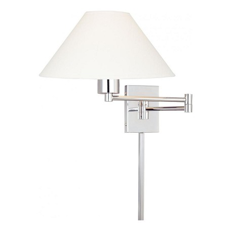 Minka George Kovacs Chrome 1 Light Plug In Wall Sconce in Chrome from the Boring Collection