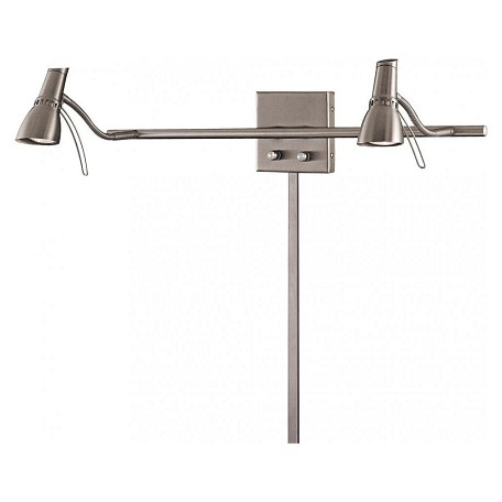 Minka George Kovacs Brushed Nickel 2 Light Plug In Wall Sconce from the Second Marriage Collection