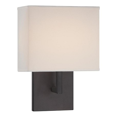 Minka George Kovacs Bronze 1 Light 11.25in. Height ADA Compliant Wall Sconce with Square Shade