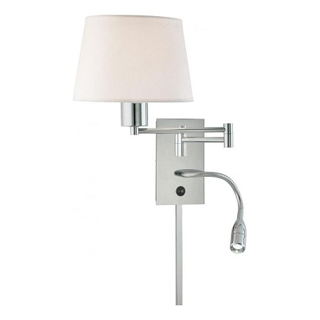 Minka George Kovacs Chrome 1 Light 15.75in. Height Plug In Wall Sconce