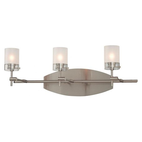 Minka George Kovacs Brushed Nickel 3 Light 22in. Bathroom Vanity Light from the Shimo Collection
