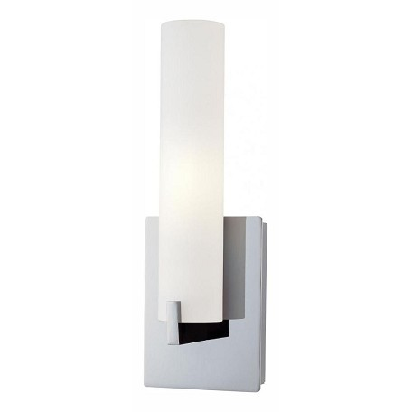Minka George Kovacs Chrome 1 Light 4.75in. Width Bathroom Sconce from the Tube Collection