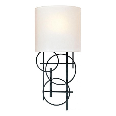 Height Of Wall Lamps : Minka George Kovacs Black 1 Light 18.25in. Height Wall Sconce Black P5131-066 From Decorative ...