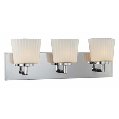 Minka George Kovacs Chrome 3 Light 20in. ADA Bathroom Vanity Light