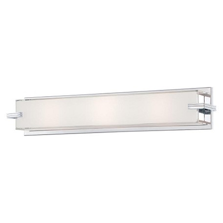 Minka George Kovacs Chrome 3 Light 24in. ADA Bathroom Vanity Light from the Cubism Collection
