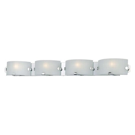 Minka George Kovacs Chrome 4 Light 42.25in. ADA Bathroom Vanity Light from the Pillow Collection
