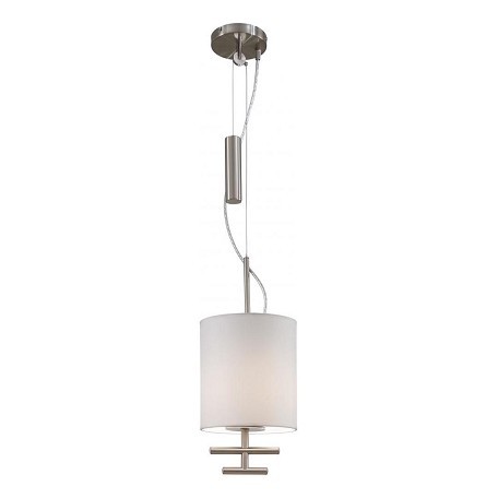 Minka George Kovacs Satin Steel 1 Light Drum Pendant From The Counter Weights Collection